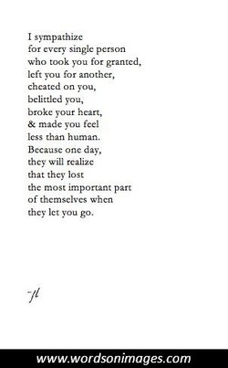 I sympathize 