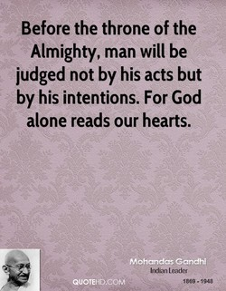 Before the throne of the 