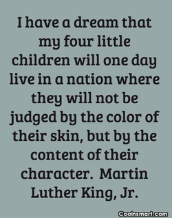 I have a dream that 