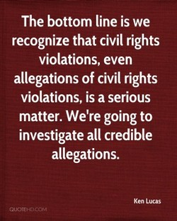 The bottom line is we 