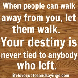 When people can walk 
