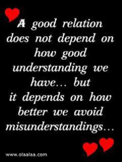 A good relation 