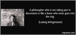 A philosopher who is not taking part in 
