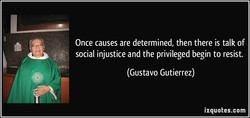 Once causes are determined, then there is talk of 