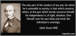 The only part of the conduct of any one, for which 