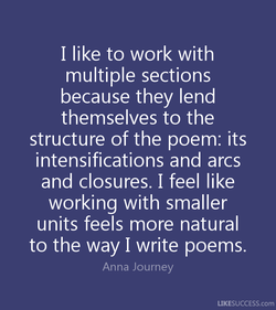 I like to work with 