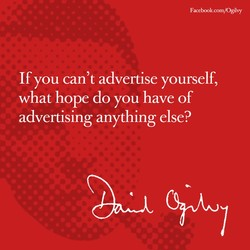 If you can't advertise yourself, 