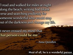 'I read and walked for miles at night 