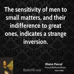 The sensitivity of men to 