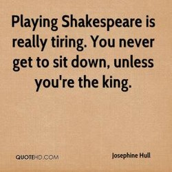 Playing Shakespeare is 