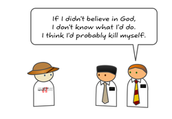 IF I didn't believe in God, 