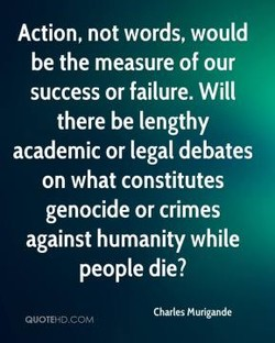 Action, not words, would 