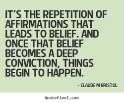 IT'S THE REPETITION OF 