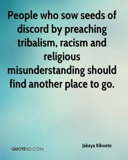 People who sow seeds of 