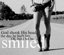 God shook His head 