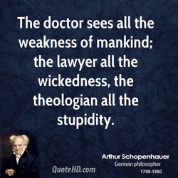 The doctor sees all the 