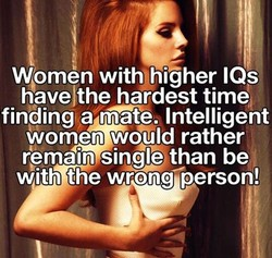 Women with9higher IQs 