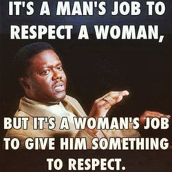 IT'S A MAN'S JOB TO 