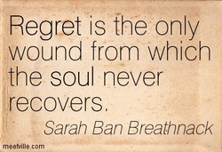 Regret is the only 