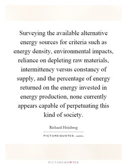 Surveying the available alternative 