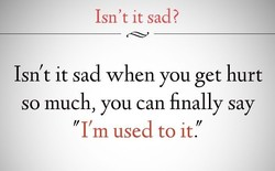 Isn't it sad? 