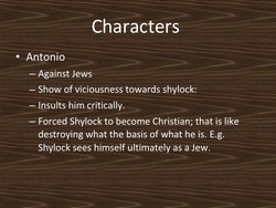 Characters - 