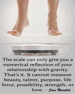 The scale can only give you a 