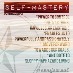 SELF-MASTERY 