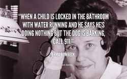 • IN THE BATHROOM 