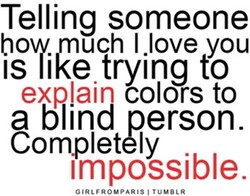 Telling someone 