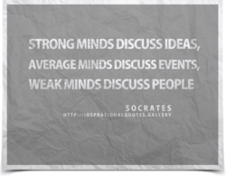 STRONG M'NDS DISCUSS IDEAS, 
