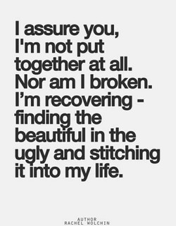 I assure you, 