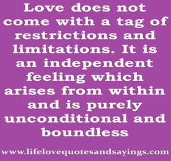 Love does not 