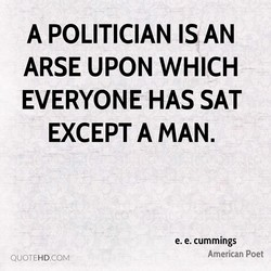 A POLITICIAN IS AN 