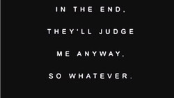 IN THE END. 