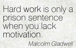 Hard work is only a 