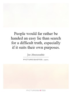 People would far rather be 