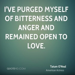 I'VE PURGED MYSELF 