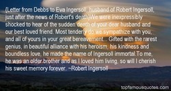 —Letter from Debbs to Eva IngersdIITuSband of Robert Ingersoll, 