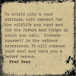 Go afield with a good 