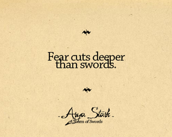 Fear cuts deeper 