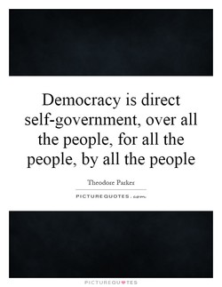 Democracy is direct 