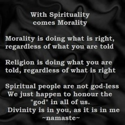 With Spirituality 