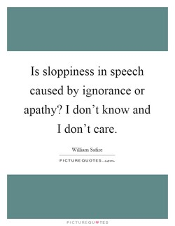Is sloppiness in speech 
