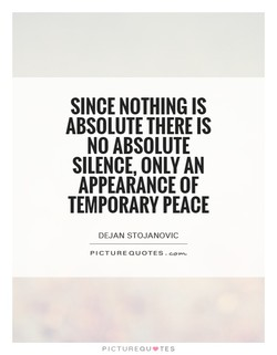 SINCE NOTHING IS 