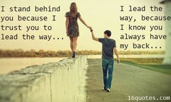 I stand behind 