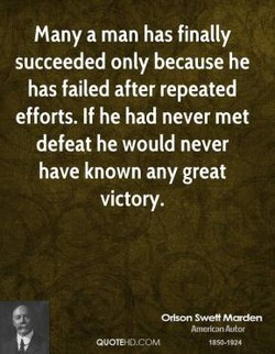 Many a man has finally 