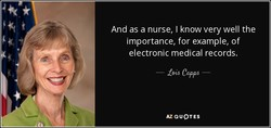 And as a nurse, I know very well the 