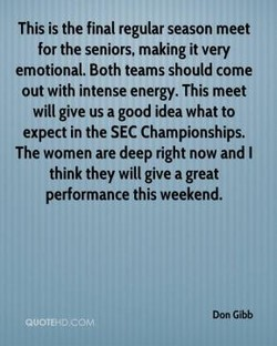 This is the final regular season meet 