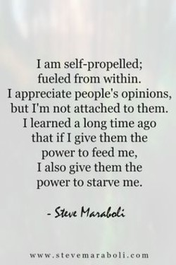 I am self-propelled; 